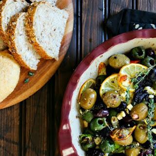 Garlic Roasted Olives