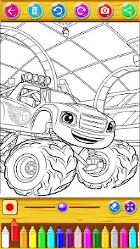 Coloring Book Blaze with Monster Machine