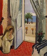 Photo: Interiør i Nice (værelse på Hôtel Mediterranée), ca. 1919