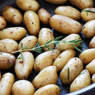 Teeny Tiny Potatoes with Rosemary.