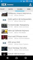 Screenshot of IEX.nl Beleggingsinformatie