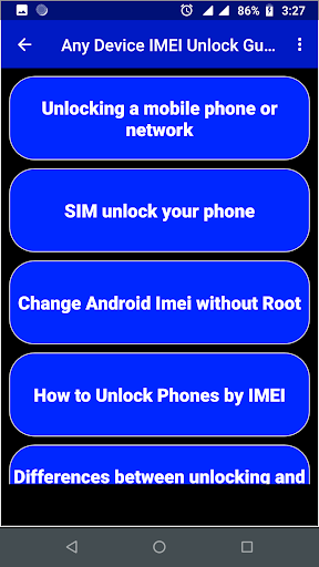 IMEI Unlock Guide For Smartphone App Report on Mobile Action - App