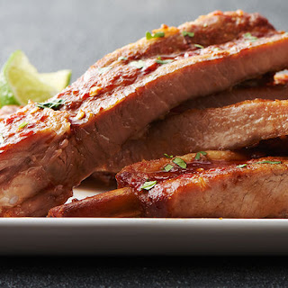 Slow-Cooker Honey Soy Pork Ribs.