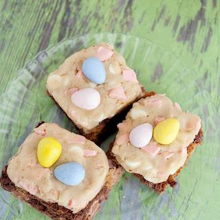 Cadbury Mini Egg Cookie Dough Brownie