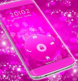 Růžový zámek obrazovky Téma - náhled