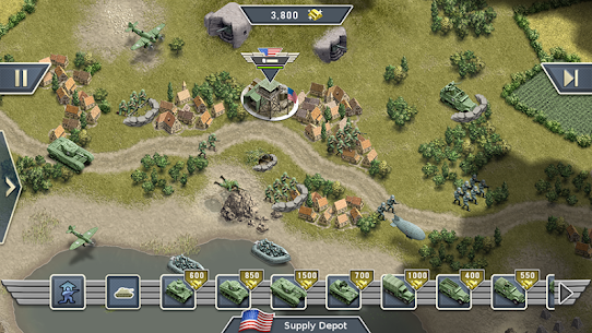 1944 Burning Bridges – a WW2 Strategy War Game Apk Download For Android and Iphone 6