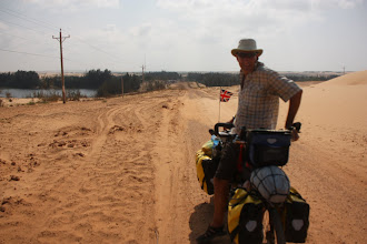 Photo: Year 2 Day 21  -   An Uphill Section on the Dirt Track With Lots of Loose Sand; Hard Going