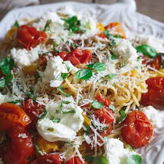Pasta Checca with Burrata.