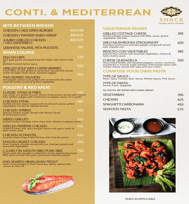 Moets Shack menu 2