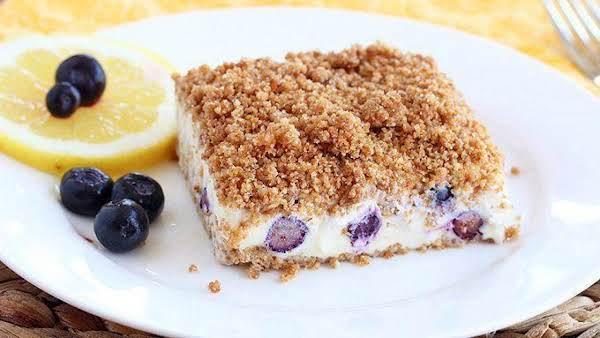 Lemon Blueberry Frozen Crunch Cake