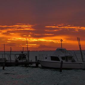 Firy sky by Judy Boyle - Transportation Boats (  )