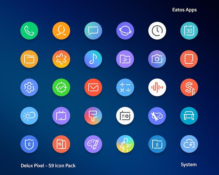 Delux Pixel – S9 Icon pack v1.1.4 [Patched]