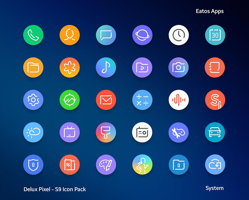 Delux Pixel - S9 Icon pack Screenshot 0