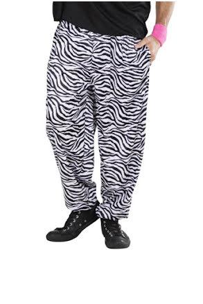 80-talsbyxa baggy, zebra