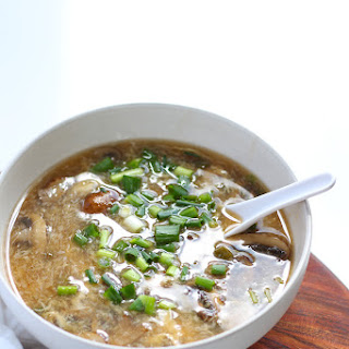 Easy Vegetarian Hot and Sour Soup.