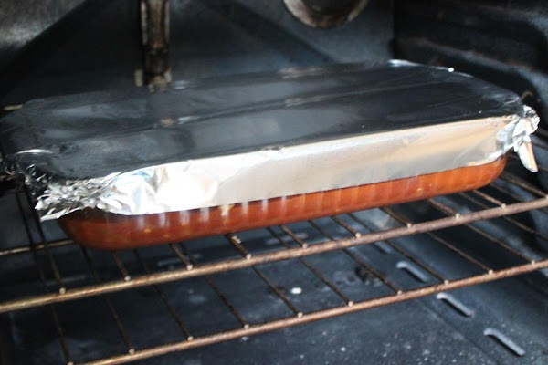 Cover dish with foil and bake for 30 minutes.