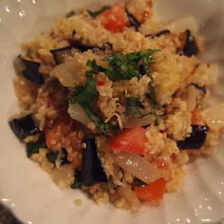 Quinoa Salad with Roasted Eggplant