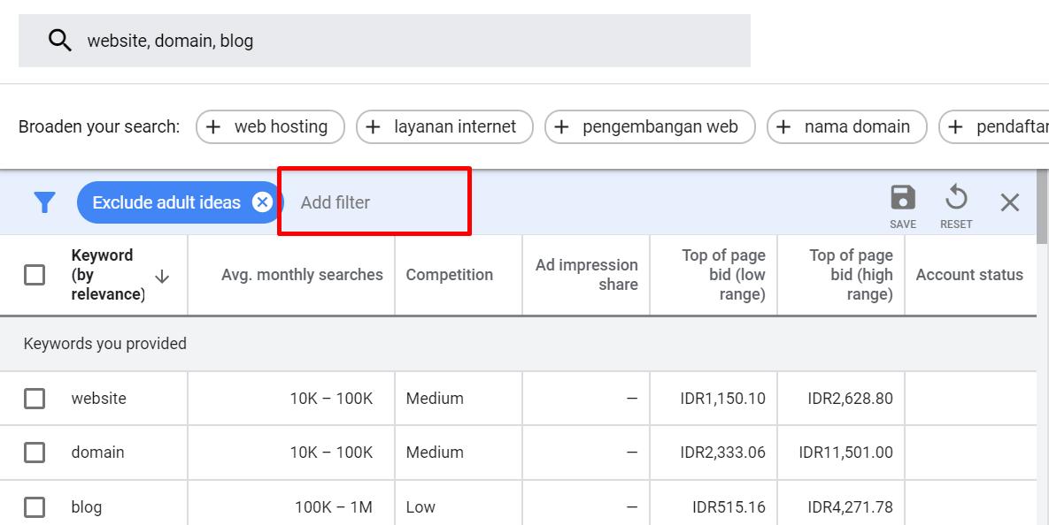 Cara Menggunakan Google Keyword Planner Terlengkap