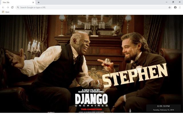 Django Unchained New Tab