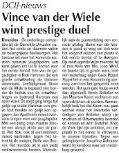 Photo: DCIJ-nieuws. Vince van der Wiele wint prestige duel. 19 mei 2011