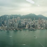 view from Ozone bar at the ICC in Hong Kong in Hong Kong, , Hong Kong SAR