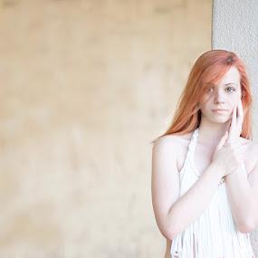 Mira by Tanya Markova - People Fine Art ( orange, hands, woman, redhead, portrait )