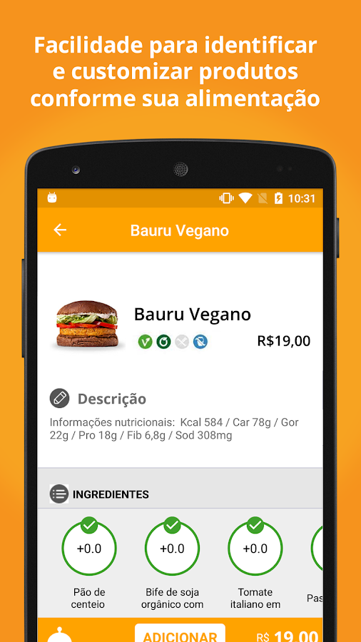 Velivery: Delivery Vegetariano- screenshot