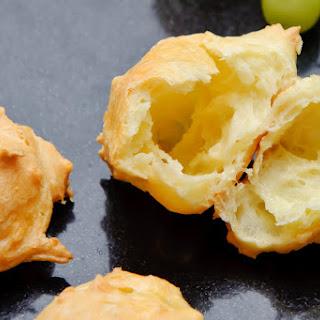 Comte Gougères (Creamy Puffed Cheese Dough).