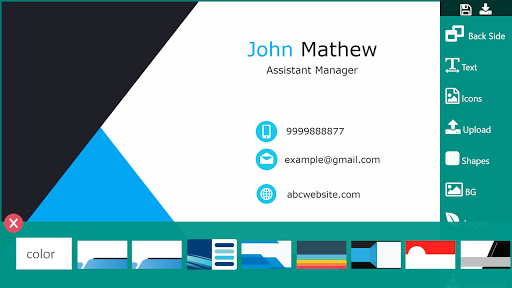 Business Card Maker Free Visiting Card Maker photo screenshot 3