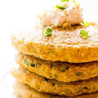 Savory Zucchini Cornmeal Pancakes Recipe