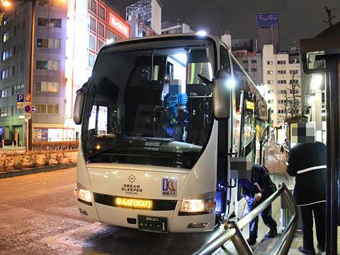 関東バス「ドリームスリーパー東京大阪号」 ・・・1 池袋駅西口改札中