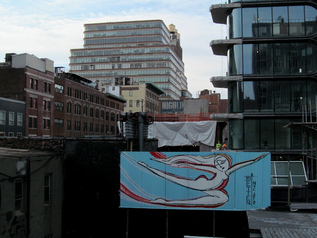Artful sign along the High Line
