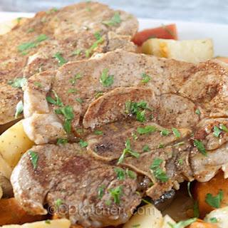 Cast Iron Skillet Pork Steaks.