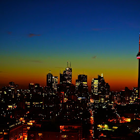 Toronto Rising by Eric Banwell - City,  Street & Park  Vistas