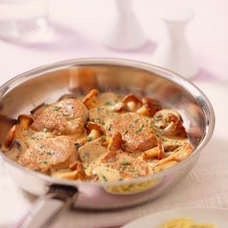 Schweinefilet in feiner Pilzsauce