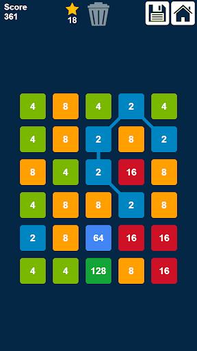 2048 Connect n Merge Numbers: Free Merge Puzzle ss3