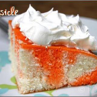 Orange Dreamsicle Jello Cake.