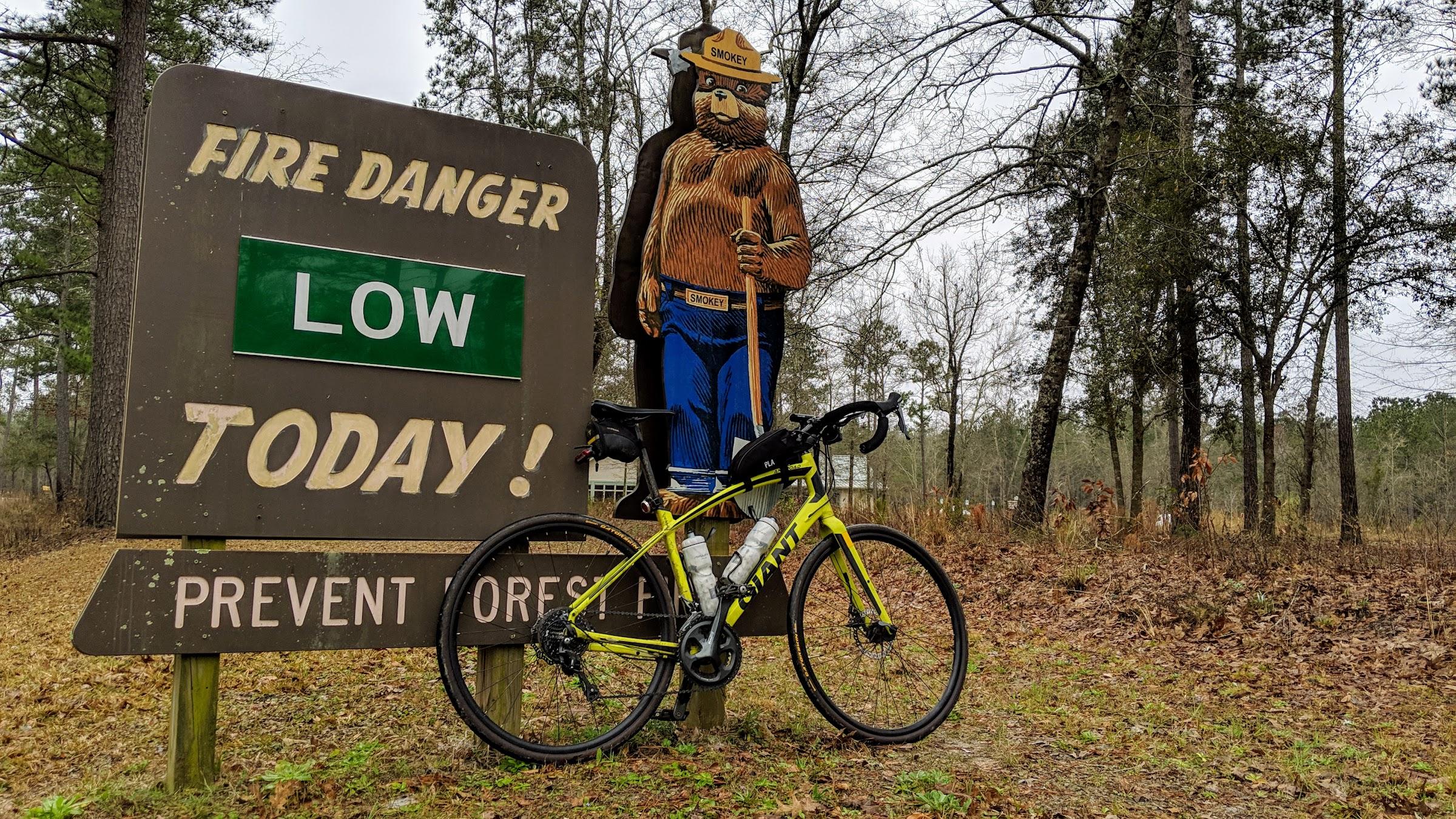 Bike and Smokey Bear