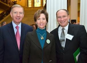Photo: BBA President Paul Dacier, BBA President-Elect Julia Huston, and Justice Ralph Gants (Supreme Judicial Court).