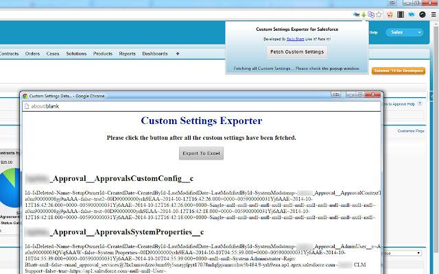 Custom Settings Exporter for Salesforce