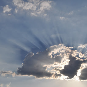 Angles by Savannah Eubanks - Landscapes Cloud Formations ( sky, cloud, sun rays,  )