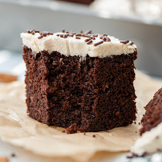 Mexican Chocolate Cake with Cinnamon Frosting.