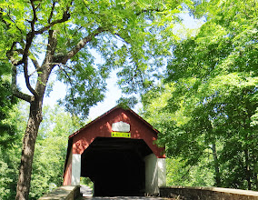Photo: One of the quaint covered bridges we saw in PA — in Tinicum, PA.