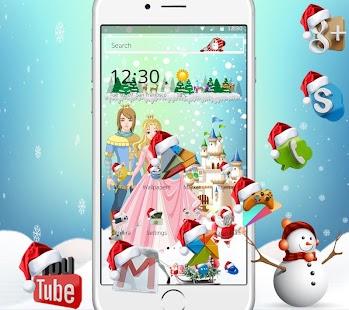 Princess princess Christmas gift theme - náhled