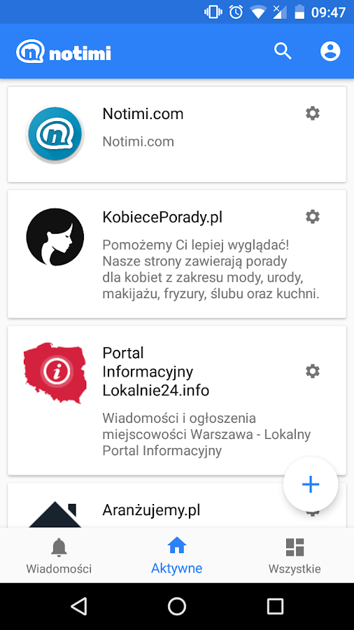 Notimi- screenshot