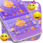 Purple Flowers Keyboard Icon