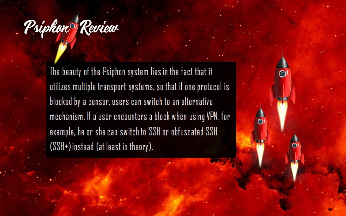 New free psiphon 3 review screenshot