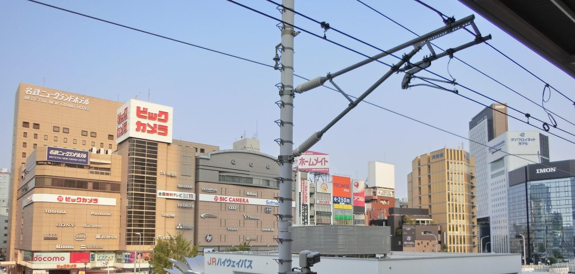 2019年6月撮影 名古屋駅新幹線大阪方面ホームから撮影