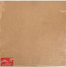 Pebbles Merry Merry Glittered Cardstock 12X12 - Kraft W/Gold Glitter UTGÅENDE