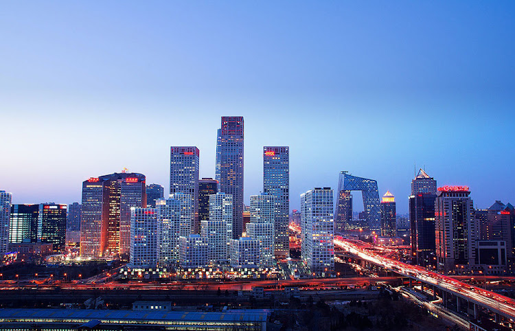 An aerial view of the Beijing central business district. Picture: SUPPLIED